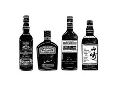 World of Whisky | BOND #whiskey #bottle #illustration #drawn #hand