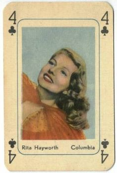 coqueterías - justforrita: I want to play cards with this. #hayworth #rita #cards #vintage