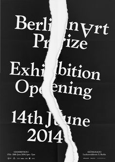 HelloMe_BerlinArtPrize_Poster_Opening_01 #poster #print