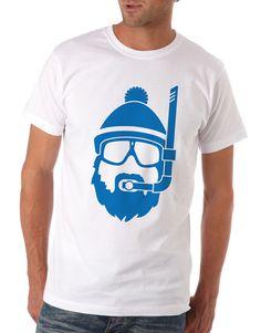 Lake Calhoun Polar Plunge : Matt Travaille : Graphic Design | Minneapolis #polar #ski #beard #color #snorkel #shirt #one #logo #blue #winter