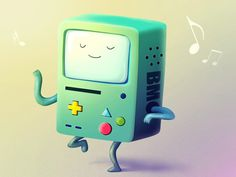 """Beemo - \""""Adventure Time\"""" fan art"""