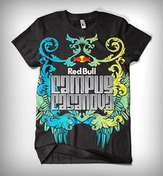 Red Bull Campus Casanova - Branding on the Behance Network #pakistan #print #shirt #illustration #colorful #fashion #typography