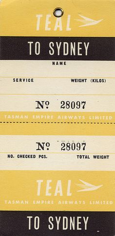sydney Flickr Photo Sharing #numerals #sydney #gothic #airline #ticket #typography