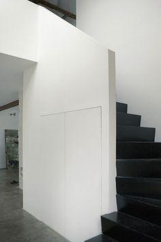Black and white corridor #interior #house #modern #rustic #architecture #studio #art #paintings #artist