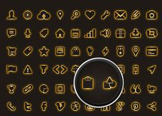 Icon Pack for Mobile & Web #icon #design #icons #gold #graphics