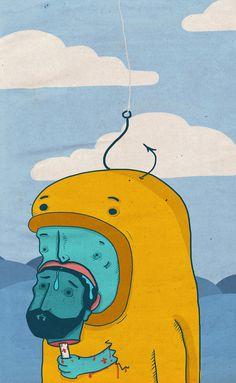 Monsters of last dinner on Behance #illustration #art #painting #monster