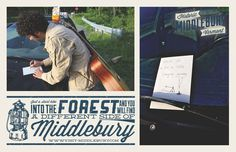 Middlebury, Vermont | Camping Poster