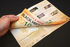 Black History Month 2010 on the Behance Network #print #design #graphic #brochure #typography