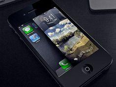 Dribbble - fold to unlock ios style by Anton Kudin #iphone #ios #maps #slider