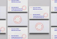 Amigos Skate Shop by Jorge León #graphic design #business cards #print