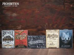 Prohibition Collection Playing Cards by Mike Clarke #logotype #lettering #branding #packaging #design #liquor #logo #illustration #identity #type #package #typography