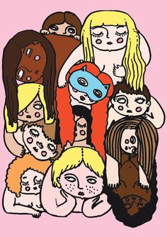 drawing #illustration #girls #group