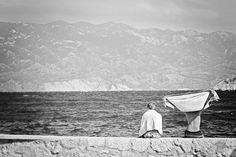 svart-vit #craotia #white #photo #baska #retouch #black #sea #swim #adriatic #summer #and