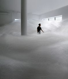 CJWHO ™ (Tornado with 2milion straws) #tornado #white #installation #design #interiors #photography #art #straws