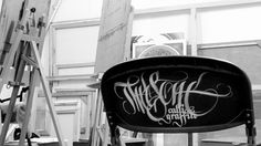 I like lettering :) on the Behance Network #calligraphy #lettering #theosone #chair #art #street