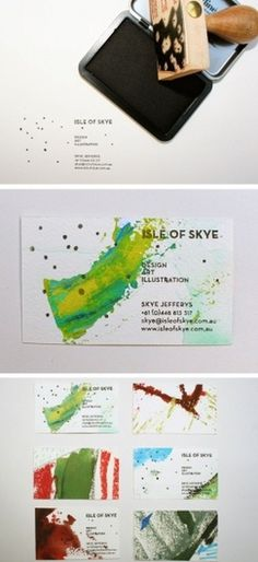 Design Work Life » Isle of Skye #stamp #print #cards #bussines