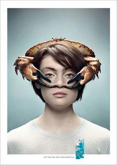 Novartis Otrivin – Laissez la mer vous aider àrespirer | Voyons Voir - J'aime le frivole #design #graphic