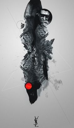 YSL // Fashion Tribute on the Behance Network #yves #red #glamour #black #tribute #illustration #saint #fashion #luarent