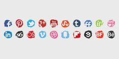 Spray Colour Icons Set #spray #icons #social