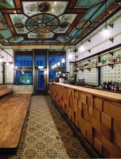 michael grzesiak transforms a century old butcher shop into a bar #bar
