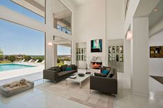 Inviting Texas Home Evoking a Coastal Atmosphere: Spanish Oaks Residence #interior #design #living #room