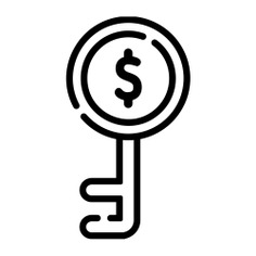 See more icon inspiration related to key, access, password, Tools and utensils, passkey, door key, dollar symbol and pass on Flaticon.
