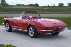 Chevrolet Corvette, 1962, cherry, antique car, convertible