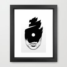 The Tide (Whiteout) Framed Art Print #illustration