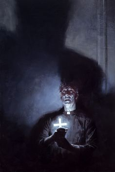 Muddy Colors: Salem's Lot #vicar #darkness #priest #cross #literature #horror #fiction #illustration #art #exorcism #illumination #king #shadow
