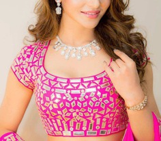 Simple & Beautiful Mirror Work Blouse Designs- Latest Designs Images