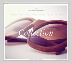 The House of Eyewear #website #layout #design #web