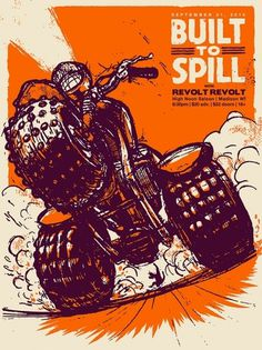Builttospill.jpg (640×853) #stenson #built #design #brett #poster #music #band #to #spill #typography