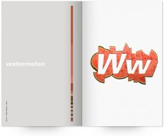 UW Design Show 2011 | Derek Chan #univers #print #design #graphic #book #publication #watermelon #typography