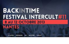 Festival Intercult 2013 #festival #clean #simple #website #layout
