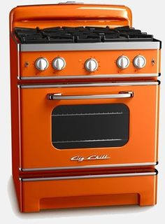 Vintage Inspired Retro Stoves from Big Chill #orange #retro #stove