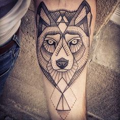 Wolf Tattoo On Arm – We Love Tattoos #wjavascript:void(0);olf #ink #tattoo