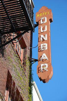 Hotel Dunbar sign