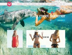Roxy.com on the Behance Network #design #web