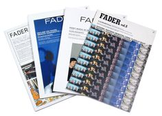 Fader magazine #design #book #typography