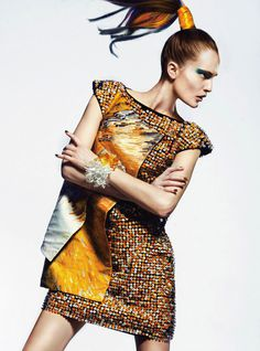 Alla Kostromichova by Kevin Sinclair for Vogue Portugal #fashion #model #photography #girl