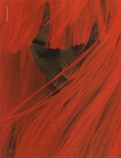 #face #covered #hair #red