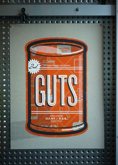 GUTS Matt Stevens #carving #halloween #pumpkin #guts #orange #poster #can