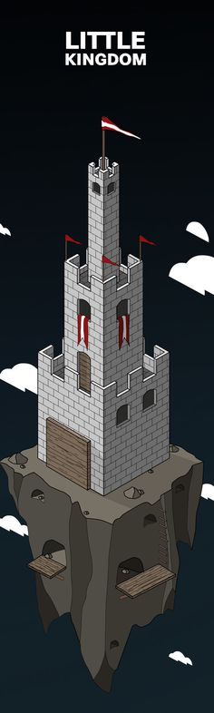 Little kingdom on Behance #vector #kingdom #geometric #little #illustration #castle