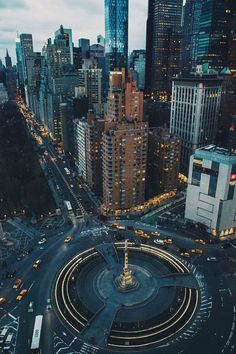 "Columbus Circle & Central Park South. Photo by Jose ""Tutes"" Tutiven #photography #columbus #central park"