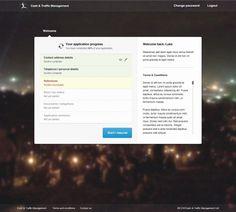 Dribbble - 02_-_welcome_v1.jpg by Luke Jones #website #interface