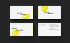 Seven Summits #film #business #branding #identity #stationery