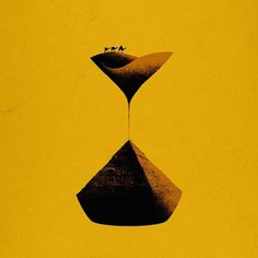 The Sands of Time — by Aled Lewis #hourglass #earth #camel #sand #time #pyramid #collage #desert