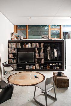 The Living Cube — Till Koenneker #interior design #architecture #furniture #black