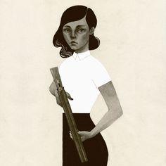 Patrycja PodkoÅ›cielny #girl #gun #podkocielny #illustration #patrycja