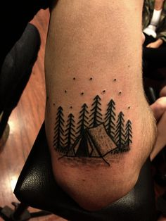poked camp ground for ty. #forest #tent #tattoo #camping